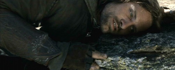 Image result for aragorn fallen off cliff